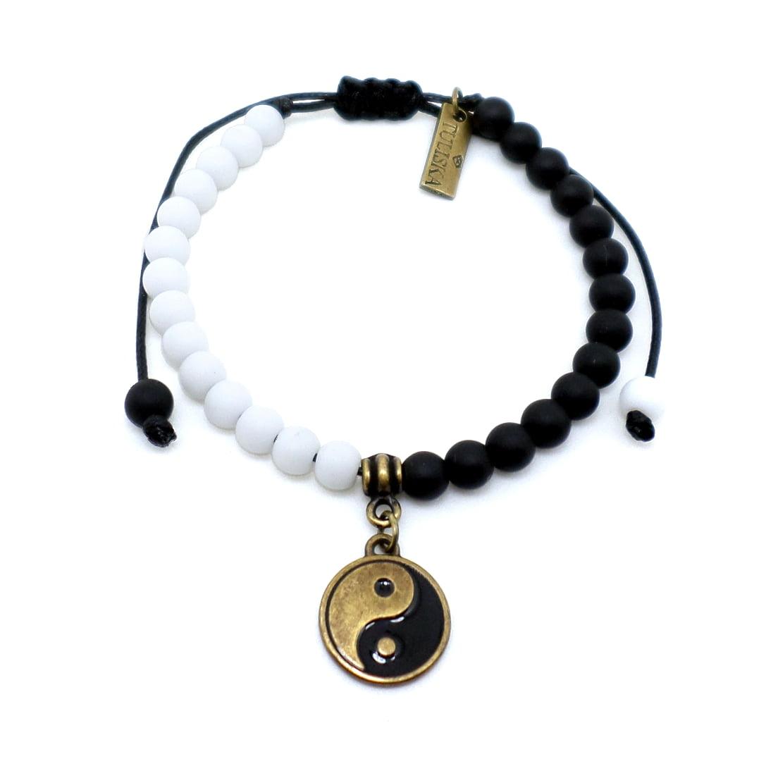 Pulseira Pedras Yin Yang